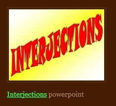 interjections ppt