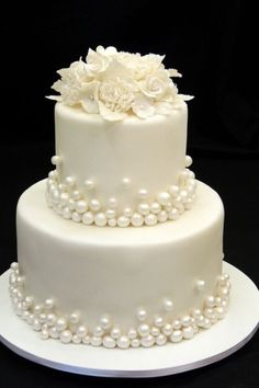 Wedding Cake Stands, Amazing Wedding Cakes, White Wedding Cakes, 30th Wedding Anniversary Cake, My Birthday Cake, Engagement Cakes, Colorful Cakes, Cake Decorating Tips, Wedding Cake Designs