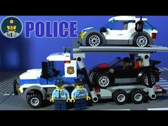 LEGO CITY POLICE Auto Transport Heist 60143 Stop Motion Build