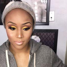 "662 Likes, 7 Comments - jazzmin jordan (@mzjazz_makeupartist) on Instagram: ""I love this picture ☺️☺️ #jazzydoll #beat #mua #makeup #yellow #milwaukeemua #atlantamua…"""