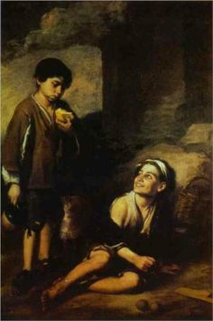 Two Peasant Boys- Bartolome Esteban Murillo