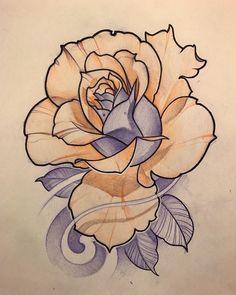 Disponible rose heart tattoo, rose tattoos, flower tattoos, new tattoos, body art Rose Drawing Tattoo, Realistic Rose Tattoo, Flower Tattoo Drawings, Tattoo Design Drawings, Flower Tattoo Designs, Neo Traditional Roses, Traditional Rose Tattoos, Desenho New School, Tattoo Studio