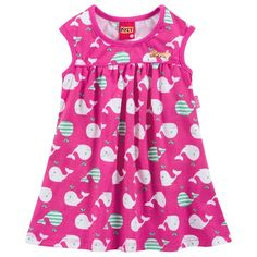 Vestido infantil menina em meia malha - Kyly
