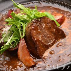 牛タンの味噌デミグラス煮込み