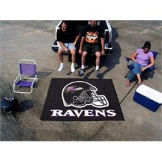 Baltimore Ravens Tailgate Area Rug 5' x 6'