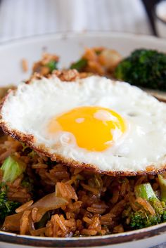 Nasi Goreng - Indonesian fried rice.... I learned to LOVE this while living in the Netherlands.... I have to try and make some!
