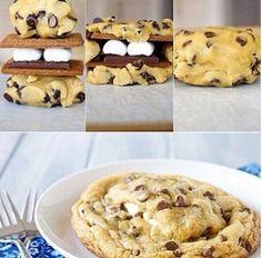 Marshmallow choco cookies