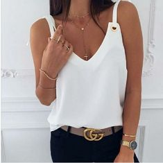 Tank Top For Women Pattu Langa Jacket White Strappy Top Peter Pan Collar Top Petite Tops And Blouses Casual Dresses, Casual Outfits, Fashion Outfits, Womens Fashion, Elegant Dresses, Sexy Dresses, Summer Dresses, Formal Dresses, Wedding Dresses