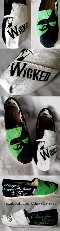 Painted Toms Shoes on Etsy, $110.00