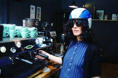 new #barista weekend safety gear  #cafelife #baristalife #maria #helmet #stockbridge #edinburgh #violentcustomers