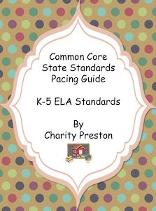 This fabulous pack of pacing guides for grades K-5 has all the standards mapped out already for you for the entire year!  No more wondering whether or not you are covering all the standards.  Just follow the guides provided and you will know your students are on the right track!  For grades K-5, this mega set has 122 pages in total!  Also available for math!  $