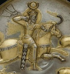 Peroz 1 or Kevad 1 of Persia - compare headdress to that of later Egyptian style Ancient Persian, Ancient Art, Ancient History, Art History, Parthian Empire, Sea Peoples, Sassanid, Sun Worship, Achaemenid