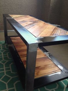 Industrial Rustic Coffee Table, Reclaimed from salvaged wood and metal on Etsy, $299.00