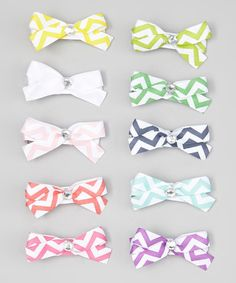 Look at this Chevron Bow Clip - Set of 10 on #zulily today!