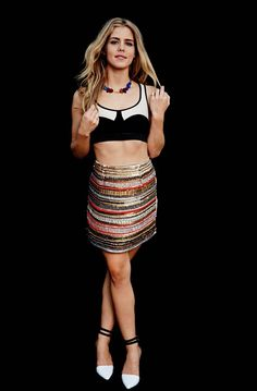 Emily Bett Rickards - I frickin love her, her style, her smile, her boobs, her everything! Can I just be her?!?!