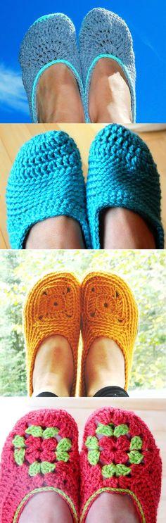 Women crochet slipper pattern - patron pantoufle pour femme au crochet