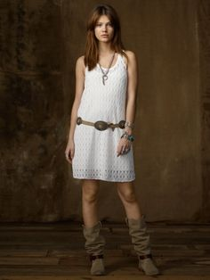 Crocheted Lace Tank Dress ... love it and the belt!