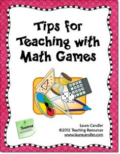 Corkboard Connections: Tips for Teaching with Math Games (Blog post with tips and a freebie)