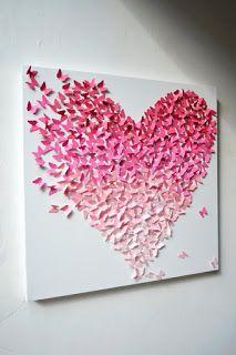 Be Creative: Ombre pillangók papírból- Ombre paper butterflies
