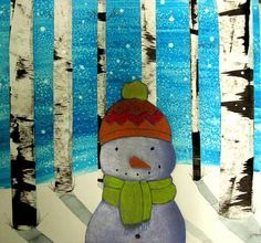 MaryMaking: Snowmen Collages