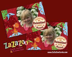 Digital file printable custom #dinosaur train inspired #valentine card | zazazoo - Cards on ArtFire #dinosaurtrain
