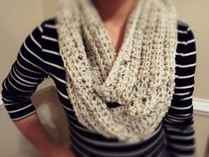 ♡ How To: Crochet Ribbed Infinity Scarf - YouTube