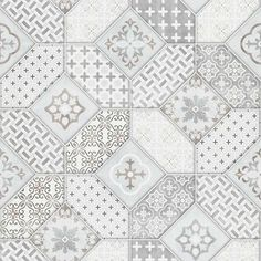 The wallpaper's bohemian style tiles designs pay great attention to detail and impress with an authentic design illustration. Encaustic Tile, Designers Guild, New Wallpaper, William Morris, Tile Design, Designer Wallpaper, Matcha, Magnolia, Indigo