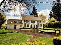 Luxury Home Magazine Portland #Luxury #Homes #Colonial #Classic #White #House #Estates