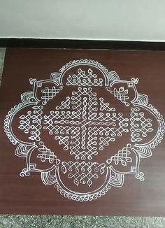 Indian Rangoli Designs, Rangoli Designs Flower, Rangoli Border Designs, Rangoli Designs With Dots, Rangoli Designs Images, Rangoli With Dots, Beautiful Rangoli Designs, Mehandi Designs, Rangoli Borders
