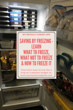 What to Freeze, What Not to Freeze & How to Freeze It | My Royally Cheap Life - Freezer Tips