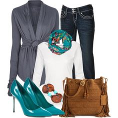"""""""Comfy Cardigan Day"""" by christina-young on Polyvore"""