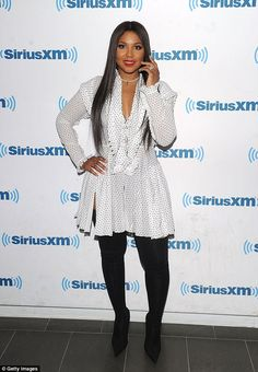 Toni Braxton puts on sexy display in plunging shirt dress - Fab at Toni Braxton put on a sexy display in a plunging shirt dress and thigh-high boo… - African Men Fashion, Africa Fashion, Fashion Tips For Women, African Women, Ankara Fashion, African Print Dresses, African Dress, African Prints, African Style
