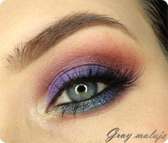 'In The Flash' by Gray using Makeup Geek's Bling, Corrupt, Country Girl, Cupcake, Vanilla Bean, Caitlin Rose, Center Stage, Houdini, Magic Act, and Showtime eyeshadows and foiled eyeshadows.