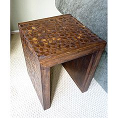 Coconut shell accent table.