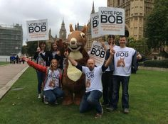 Bob's campaign team have arrived at Westminster to show MPs how many people have voted for nature so far! #VoteForBob