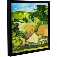 ArtWall Allan Friedlander Sonoma Home Gallery-wrapped Floater-framed Canvas, Size: 24 x 24, Green