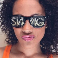 """New trend in sunglasses. I definitely need these """"Swag"""" ones!"""