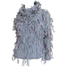 Christian Dior Boutique Silk Ribbon Applique Sweater 1990s€483.67 Christian Dior, Grey Fashion, Fashion Outfits, Dior Boutique, Mohair Sweater, Turtleneck, John Galliano, Silk Ribbon, Sweater Outfits