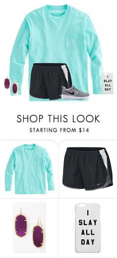 """❤️"" by texasgirlfashion ❤ liked on Polyvore featuring NIKE and Kendra Scott"