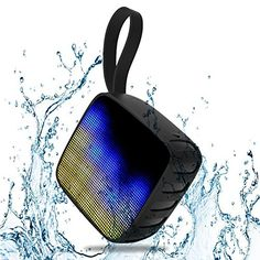 Exkokoro(TM)WaterKids-X3 LED Water Resistant Handsfree Portable Wireless Bluetooth Shower Speaker Passive Subwoofer