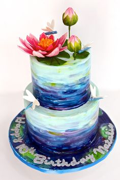 amazing cakes These water color quinceanera cakes will attract your appetite and eyes! These cakes deserve to be an award winning masterpiece at an art museum. Gorgeous Cakes, Pretty Cakes, Amazing Cakes, Crazy Cakes, Fancy Cakes, Unique Cakes, Creative Cakes, Fondant Cakes, Cupcake Cakes