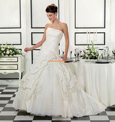 Sans bretelles Chic & Moderne Zip Robes de mariée 2014