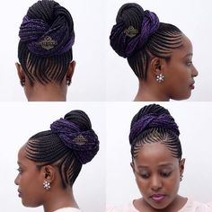 #cornrows with a touch of colour - unaweza kuchagua kuwekewa addition any colour unayotaka - silver, white, maroon, ... wewe tu - best styke of all time - book dial 0752903696/0673903696