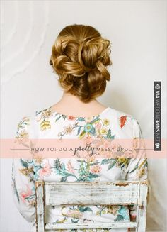 Messy Up Do Tutorial | CHECK OUT MORE IDEAS AT WEDDINGPINS.NET | #weddinghair