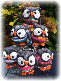 Owls made by moos - No pattern, but keep for color and design