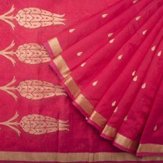 Madras George Handwoven Gulistan Silk Cotton Sari 1014342 - Sari / All Saris - Parisera