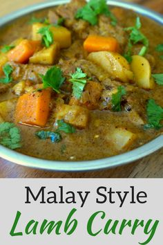 Cape Malay Lamb Curry, Lamb Curry, South African Curry, Malay Style Curry