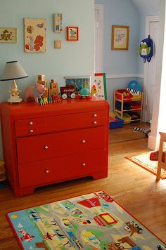 In my mind, this is exactly how a functional nursery looks. And the vintage toys are just a huge bonus!