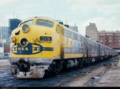 ATSF #315L (EMD F7A) leads AMTK #16 - Texas Chief - at Houston, TX on December 06, 1972. Photo by Don Crimmin.
