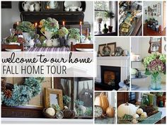 Fall Decorating Ideas: Fall Home Tour from Finding Home with links to 15 other blogger's fall homes and BHG.com for more fall decorating inspiration.